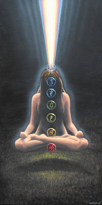 Chakra Painting - Chakras by Mark Mittlesteadt