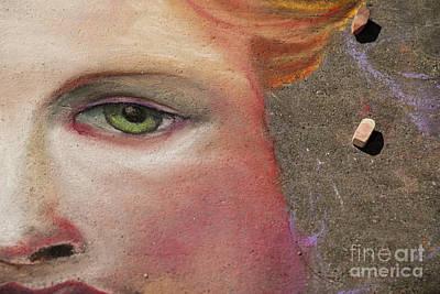 Green Eyes Photograph - Chalk Art by Juli Scalzi