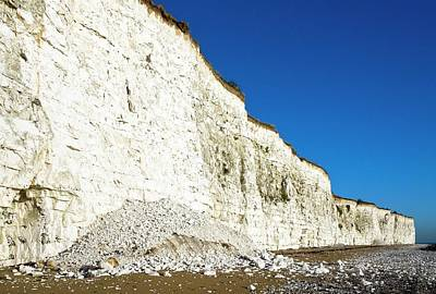 Chalk Cliffs Print by Carlos Dominguez