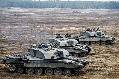 The Main Photograph - Challenger 2 Main Battle Tanks by Andrew Chittock