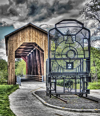 Oregon Photograph - Chambers Covered Bridge by Thom Zehrfeld