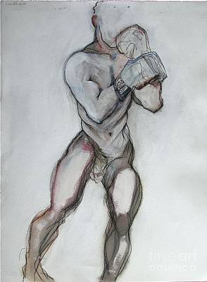 Boxer Mixed Media - Champ by Carolyn Weltman