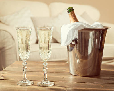 Champagne Celebration Print by Amanda And Christopher Elwell