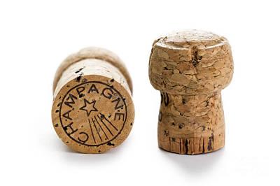Photograph - Champagne Corks by Lee Avison