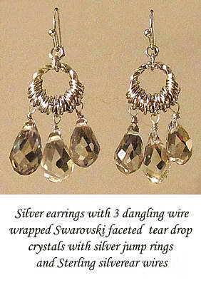 Wire Wrap Jewelry Jewelry - Champagne Danglers by Jennie Breeze