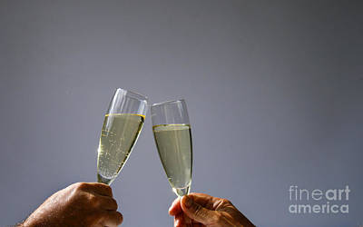 Champagne Toast Print by Patricia Hofmeester