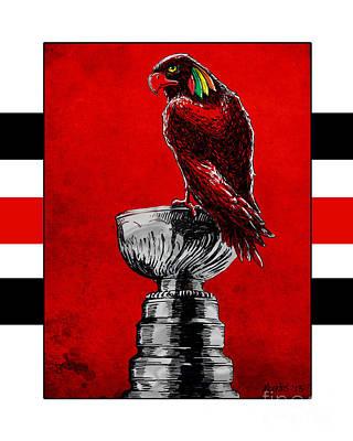 Champion Blackhawks Print by Jason Meents