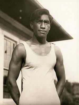 Champion Duke Kahanamoku Print by Underwood Archives