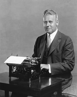 Typewriter Photograph - Champion Speed Typist by Underwood Archives