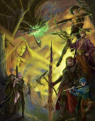 Archer Digital Art - Champions Of Deniska by Bryan Syme