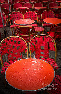 European Cafe Photograph - Champs Elysees Cafe by Inge Johnsson