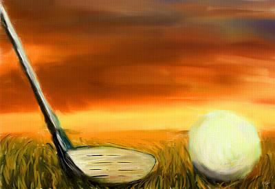 Golf Digital Art - Chance To Hit by Lourry Legarde