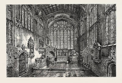 Stratford Drawing - Chancel Of Holy Trinity Church, Showing The Grave by English School