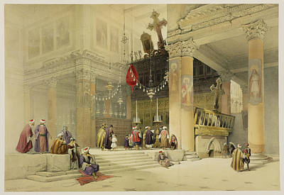 Orientalists Drawing - Chancel Of The Church Of St. Helena by David Roberts