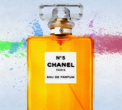 Chanel Number Five Paint Print by Dan Sproul