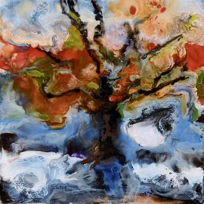 Hot Wax Painting - Change Of Seasons by Donna Tuten