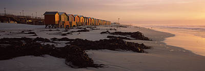 Changing Room Huts On The Beach Print by Panoramic Images
