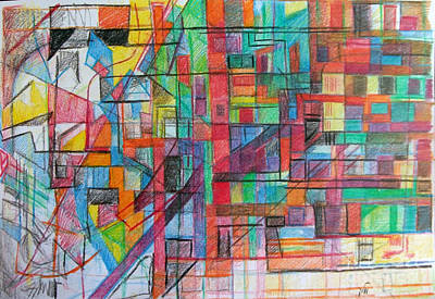 Creativity Drawing - Not To Abandon One's Place by David Baruch Wolk