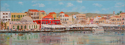 Chania Harbour East 2014 Original by David Capon