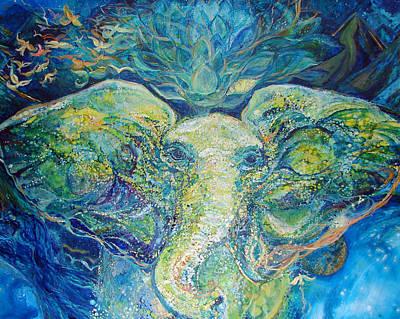 Ganesha Painting - Channels by Ashleigh Dyan Bayer