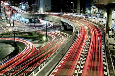 Japan Photograph - Chaotic Traffic by Koji Tajima