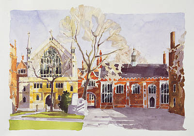 Chapel And Hall  Lincoln's Inn Print by Annabel Wilson