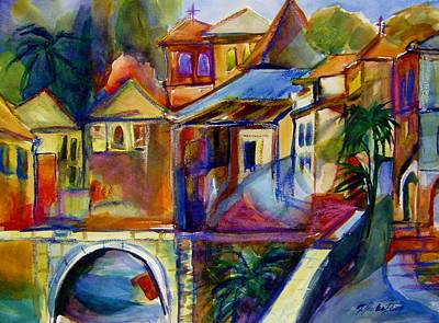 Painting - Chapel And Village Abstract Sold by Therese Fowler-Bailey