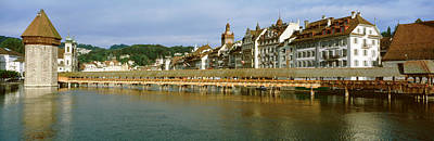 Lucerne Photograph - Chapel Bridge, Luzern, Switzerland by Panoramic Images
