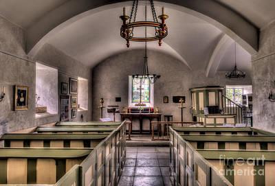 Chapel In Wales Print by Adrian Evans