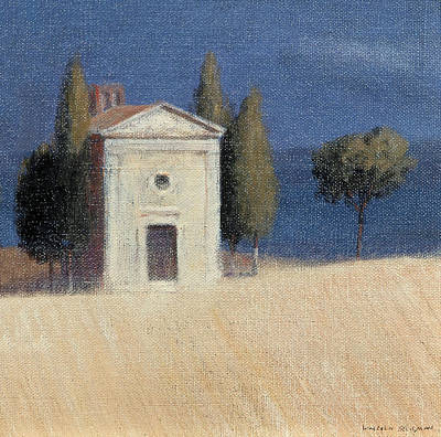 Sienna Italy Photograph - Chapel Near Pienza II, 2012 Acrylic On Canvas by Lincoln Seligman
