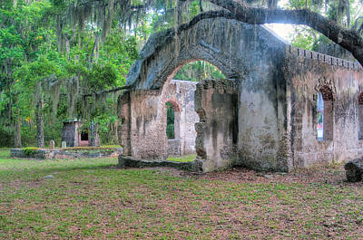 Chapel Of Ease Photograph - Chapel Of Ease With Tomb by Scott Hansen