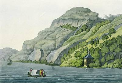 Chapel Of William Tell, From Customs Print by Vittorio Raineri