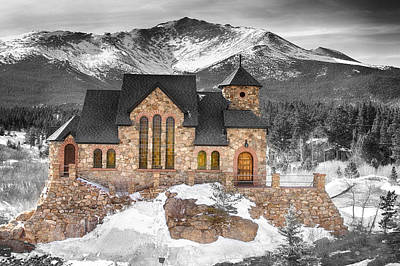 James Insogna Photograph - Chapel On The Rock Bwsc by James BO  Insogna