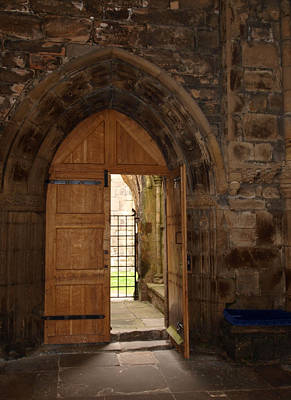Chapter House Door Print by Michaela Perryman