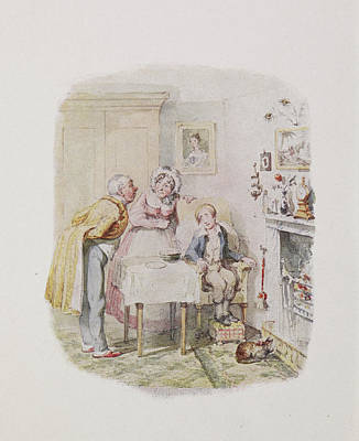 Characters From Oliver Twist Print by British Library