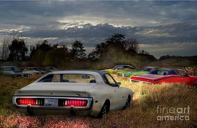 Charger Field Print by Tom Straub