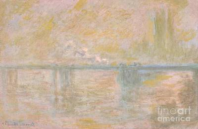 Cross Painting - Charing Cross Bridge 1899-01 by Claude Monet