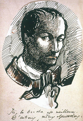 Belle Epoque Drawing - Charles Baudelaire (1821-1867) by Granger