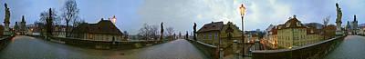 Vltava River Digital Art - Charles Bridge 360 by Gary Lobdell