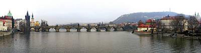 Vltava River Digital Art - Charles Bridge by Gary Lobdell
