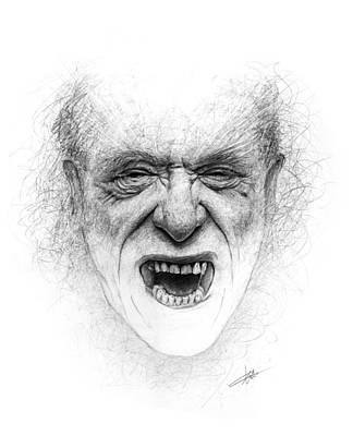 Charles Bukowski Print by Christian Klute
