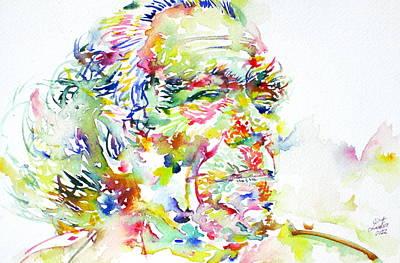 Bukowski Painting - Charles Bukowski Portrait.1 by Fabrizio Cassetta