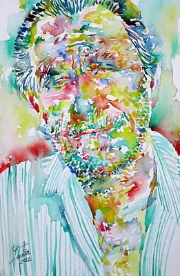 Bukowski Painting - Charles Bukowski Portrait.2 by Fabrizio Cassetta