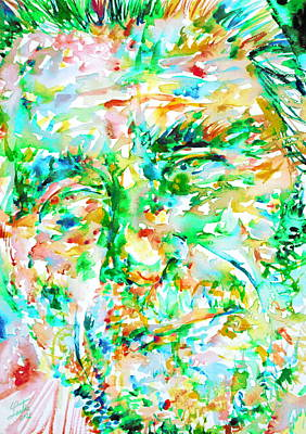 Bukowski Painting - Charles Bukowski Portrait.3 by Fabrizio Cassetta