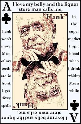 Post It Digital Art - Charles Bukowski. The Ace Of Clubs by Brett Sixtysix
