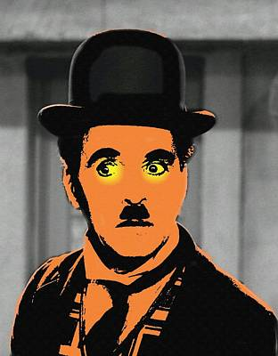 Black Tie Mixed Media - Charles Chaplin Charlot In The Great Dictator by Art Cinema Gallery
