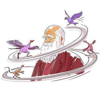 Charles Darwin Print by Harald Ritsch