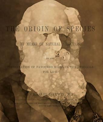Charles Darwin The Origin Of Species Print by Dan Sproul