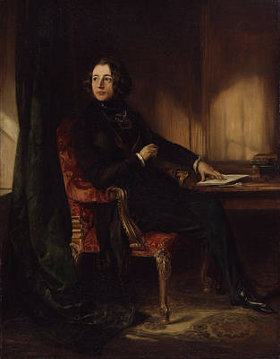 Charles Dickens Painting - Charles Dickens by Celestial Images