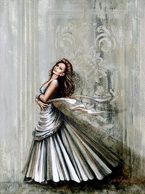 Ball Gown Painting - Charles James Swan Gown by Joan Garcia